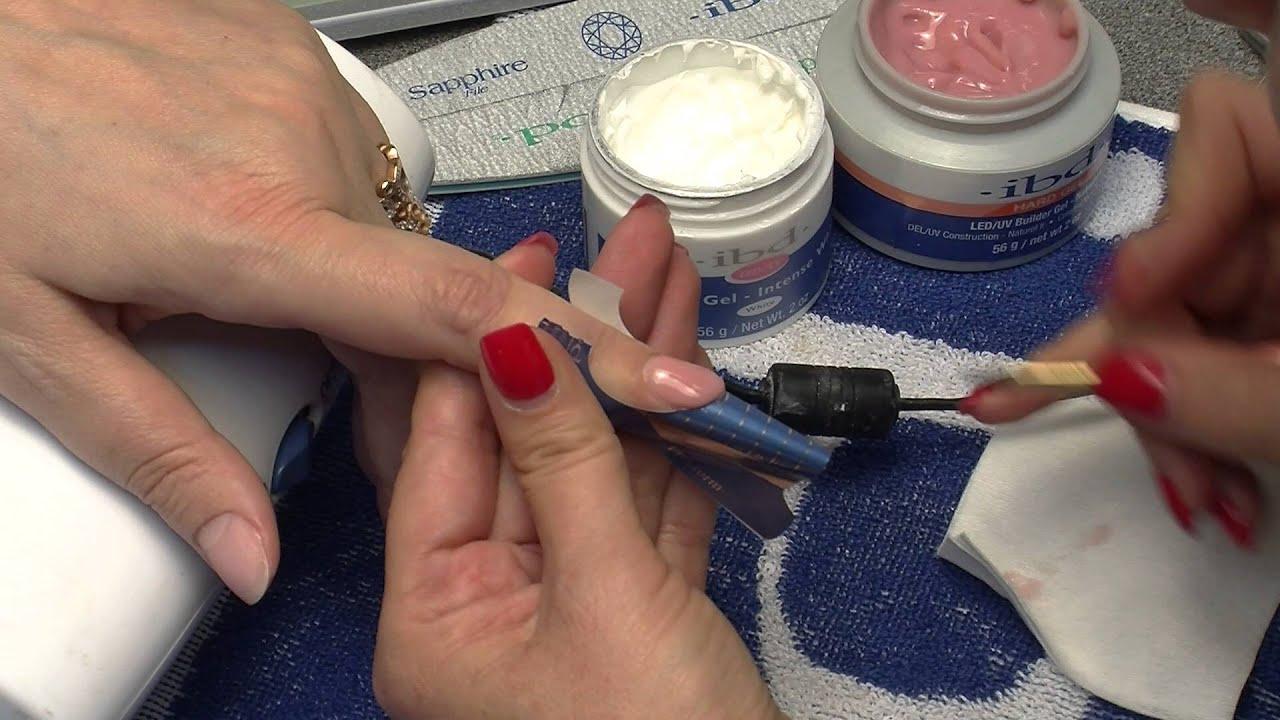 Технология наращивания ногтей гелем дома. на типсы и формы
