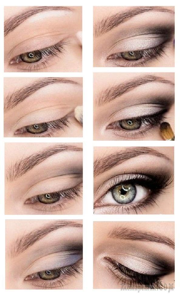 Фотоинструкция: макияж для нависшего века и увеличения глаз