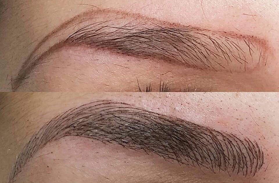 Пудровые брови. что это, фото до и после татуажа, техника напыления, сколько держится