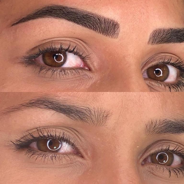 Этапы заживления после татуажа или перманентного макияжа бровей по дням: фото до и после процедуры, в том числе через месяц, отзывы