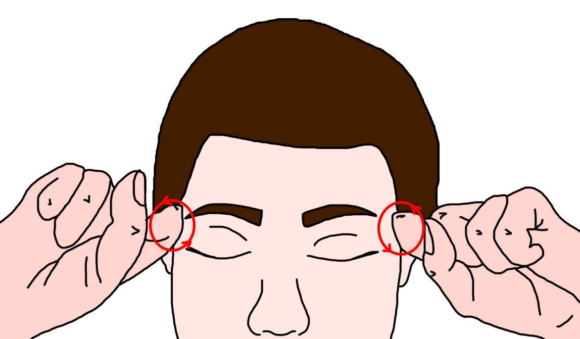 Как снять головную боль с помощью массажа аккупунктурных точек
