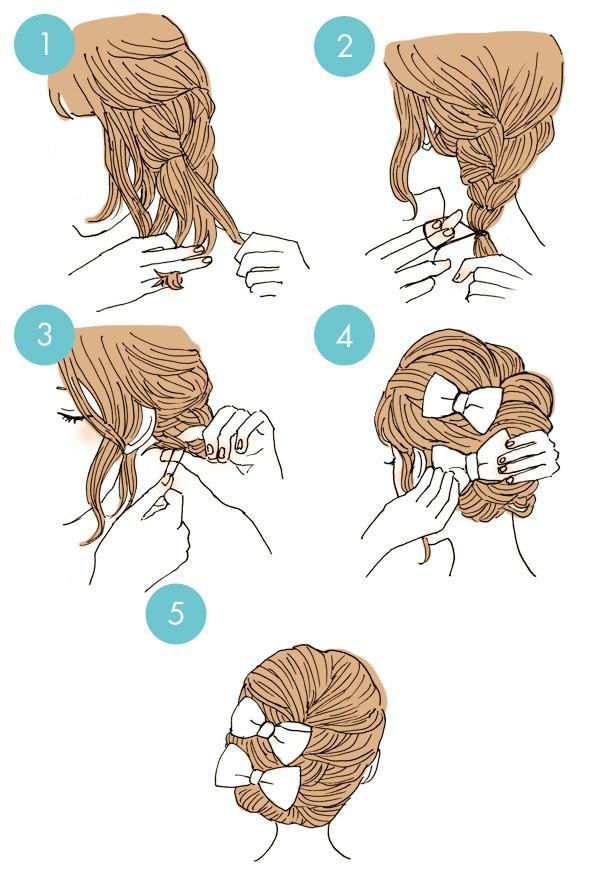 25 быстрых причесок на средние и длинные волосы на каждый день. | raznoblog - сайт для женщин и мужчин