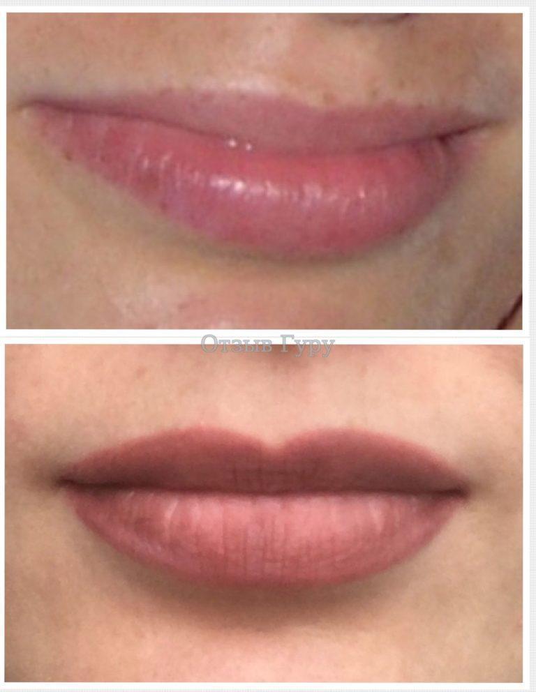 Перманентный макияж губ с растушевкой: как получить натуральный цвет