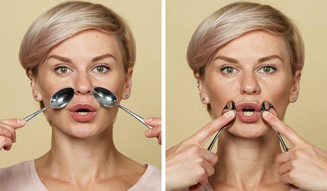 Как убрать носогубные складки в домашних условиях, подтяжка носогубных морщин в салоне / mama66.ru