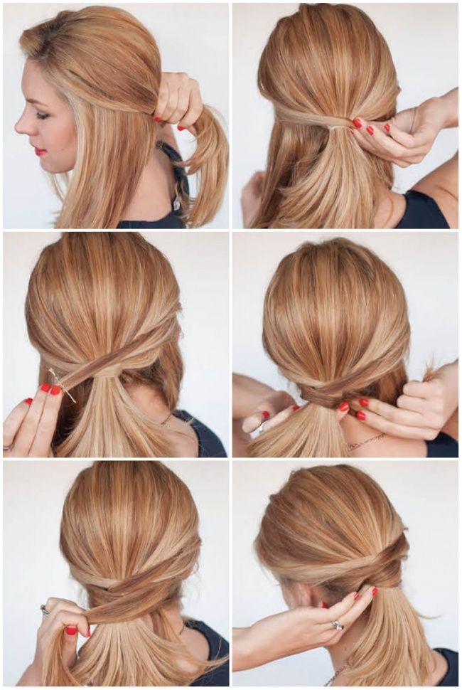 Повседневные прически для волос средней длины