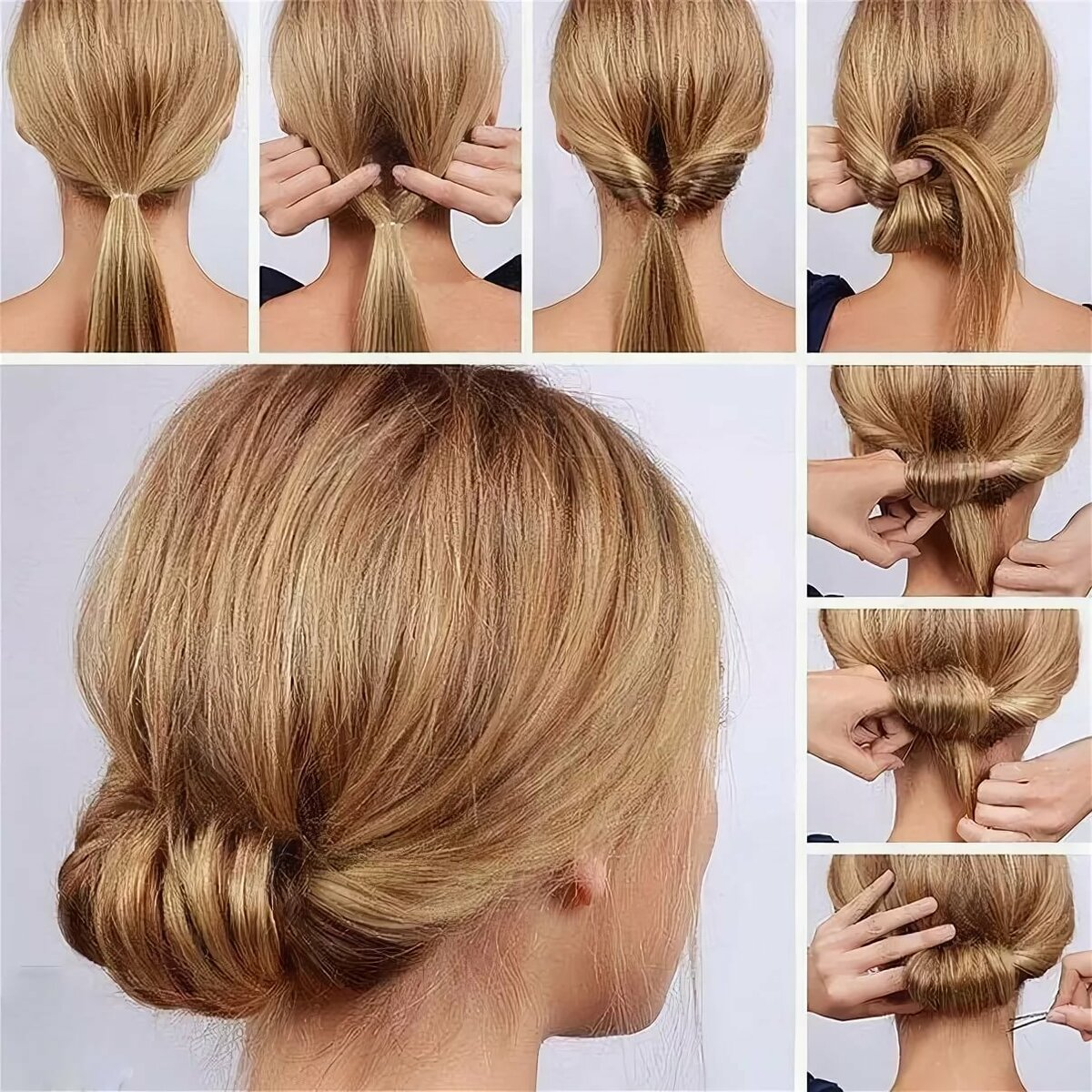 Прически на каждый день на волосы средней длины