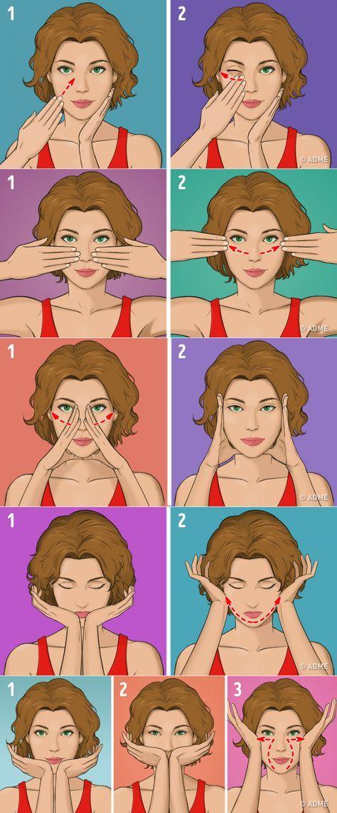 Гимнастика для лица от морщин: эффективные упражнения в домашних условиях