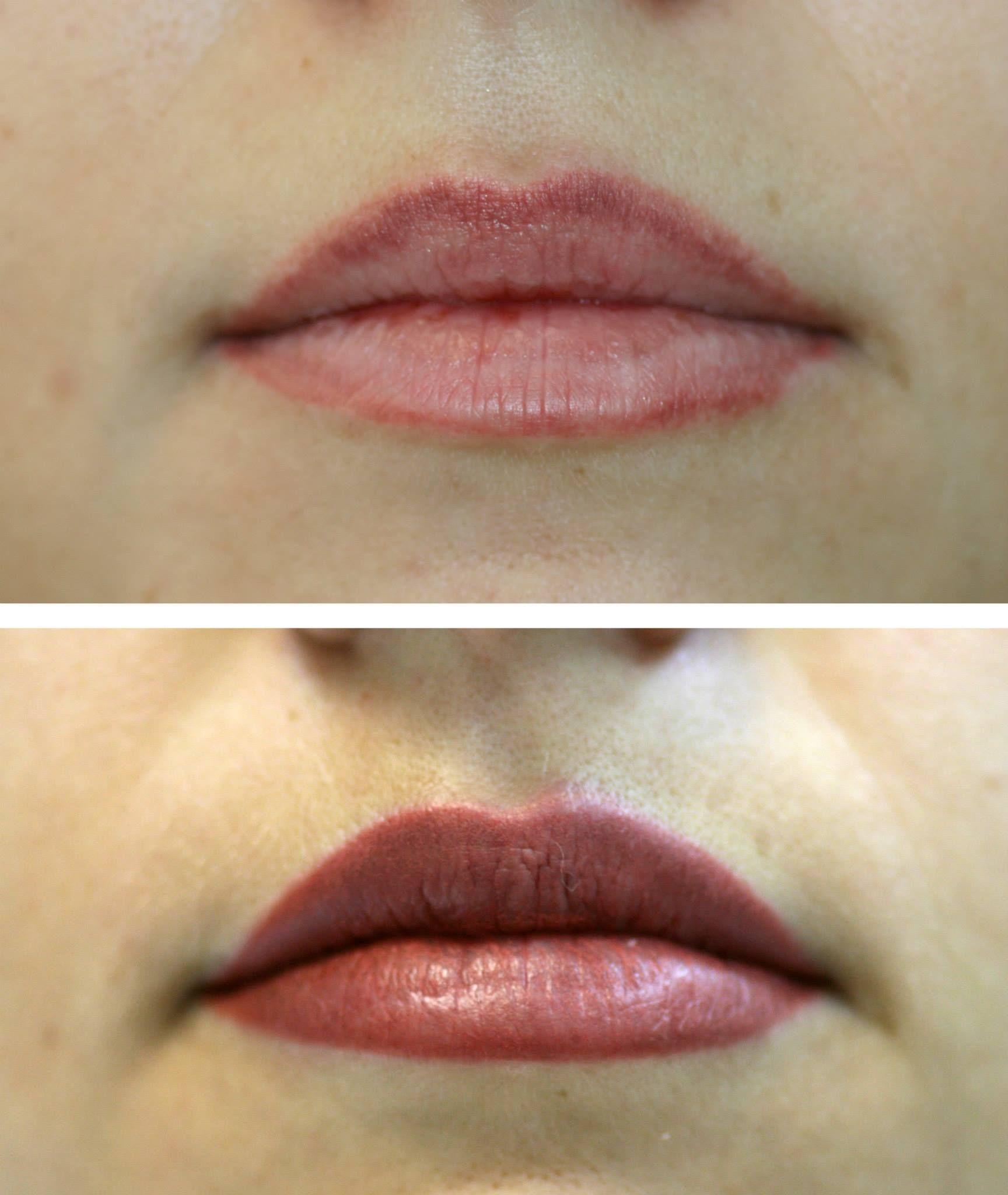 Техники татуажа губ: фото до и после процедуры