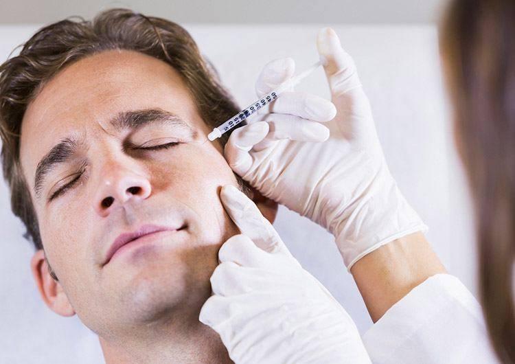 Причины использования ботулотоксина для мужчин