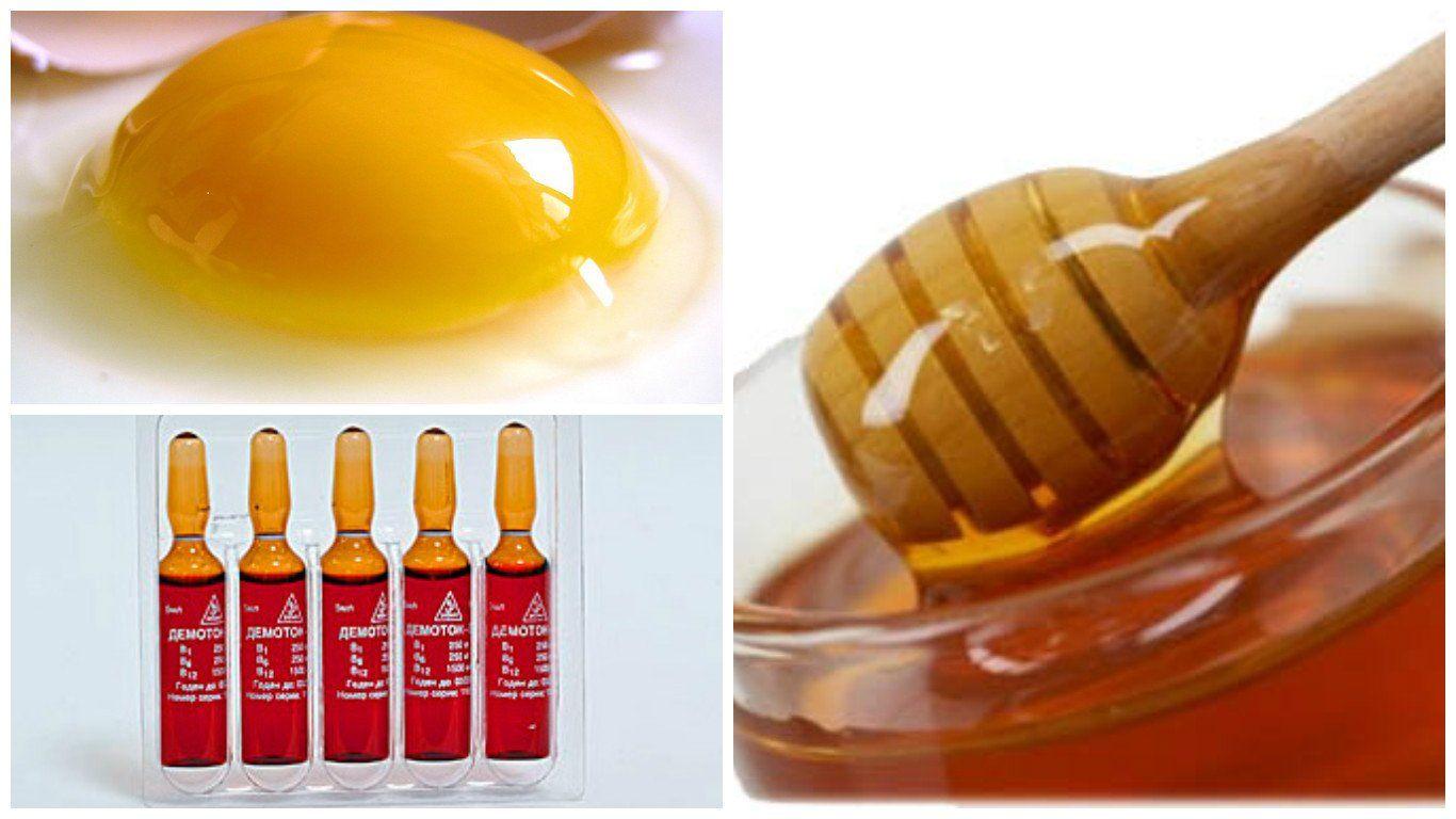 Маски для волос с витаминами в1 в6 в12, е, а, с, никотиновой кислотой, глицерином, для роста, от выпадения волос