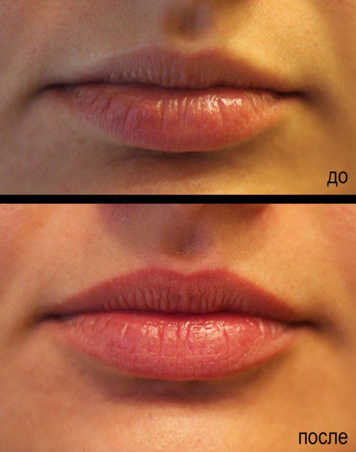 Как сделать татуаж губ с растушевкой