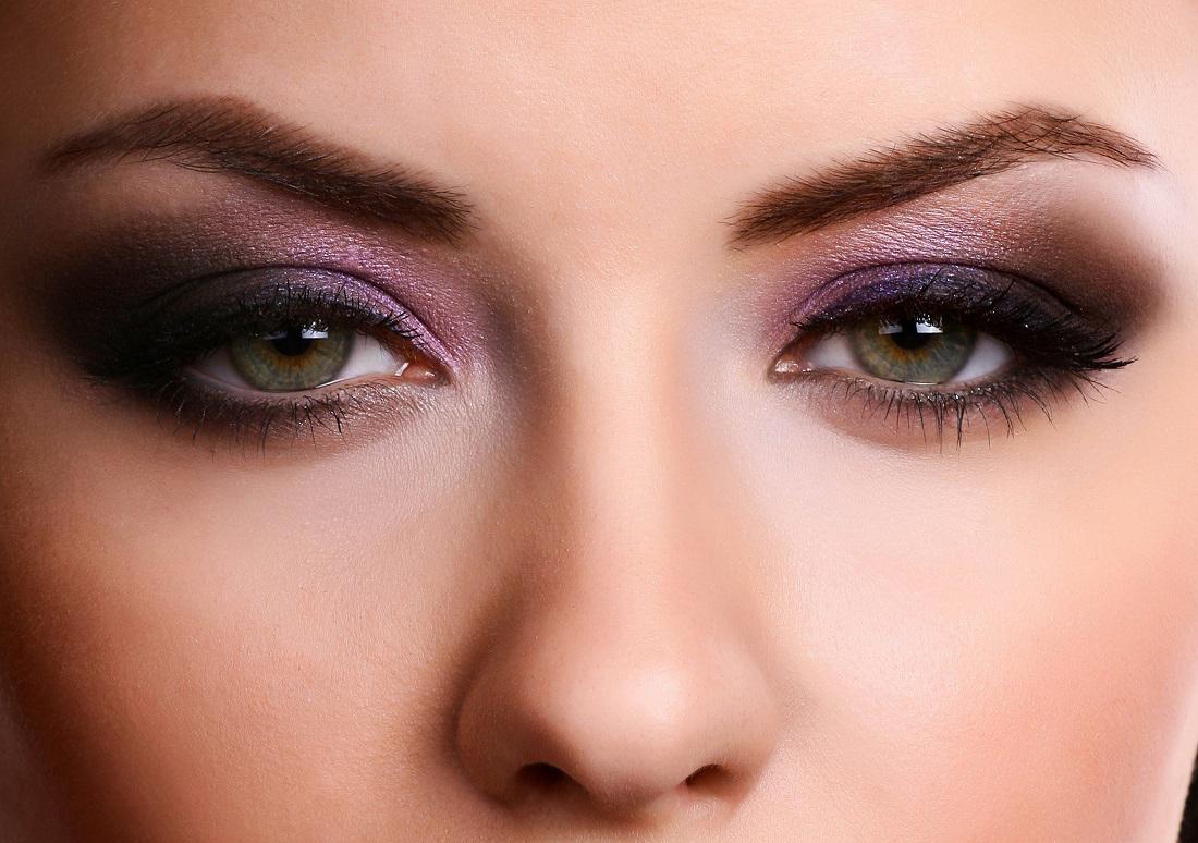 Макияж для карих глаз и тёмных волос