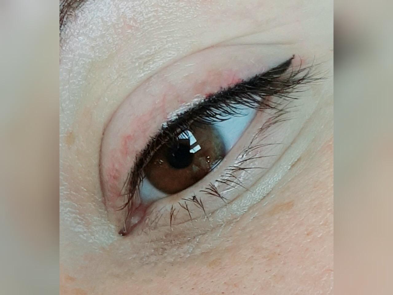 Межресничный татуаж глаз. фото до и после. как делают, последствия после процедуры, цена