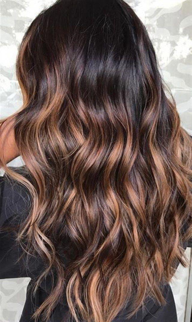 Мелирование на темные волосы, фото