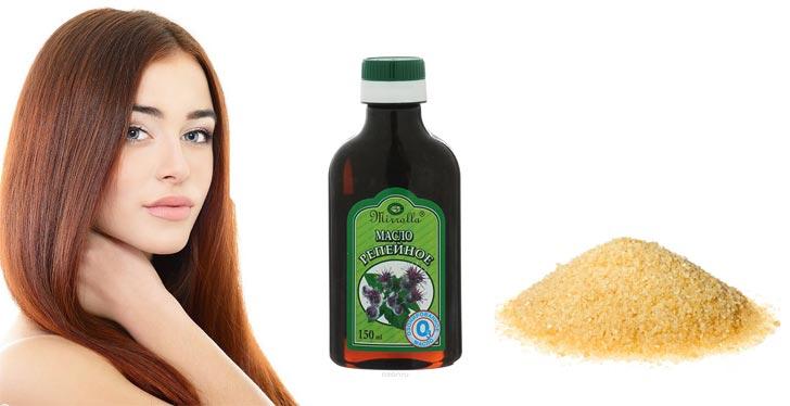 Репейное масло для волос: польза и способы применения