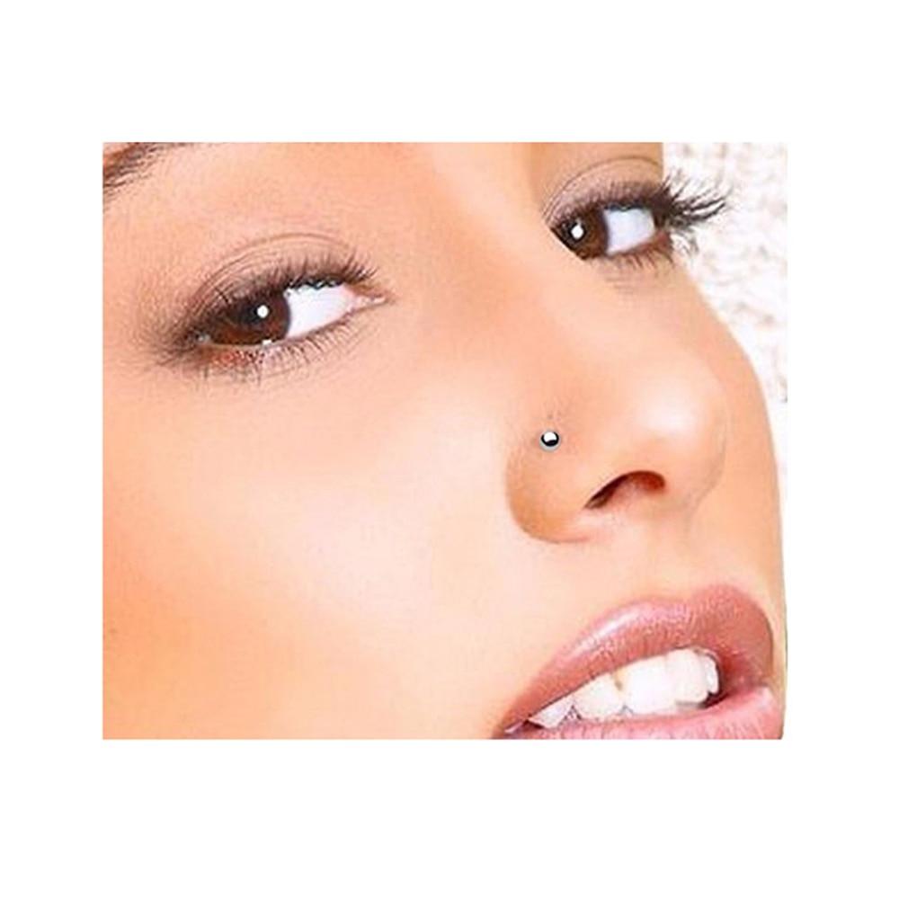 Имитация пирсинга носа без прокола имеет три вида украшений