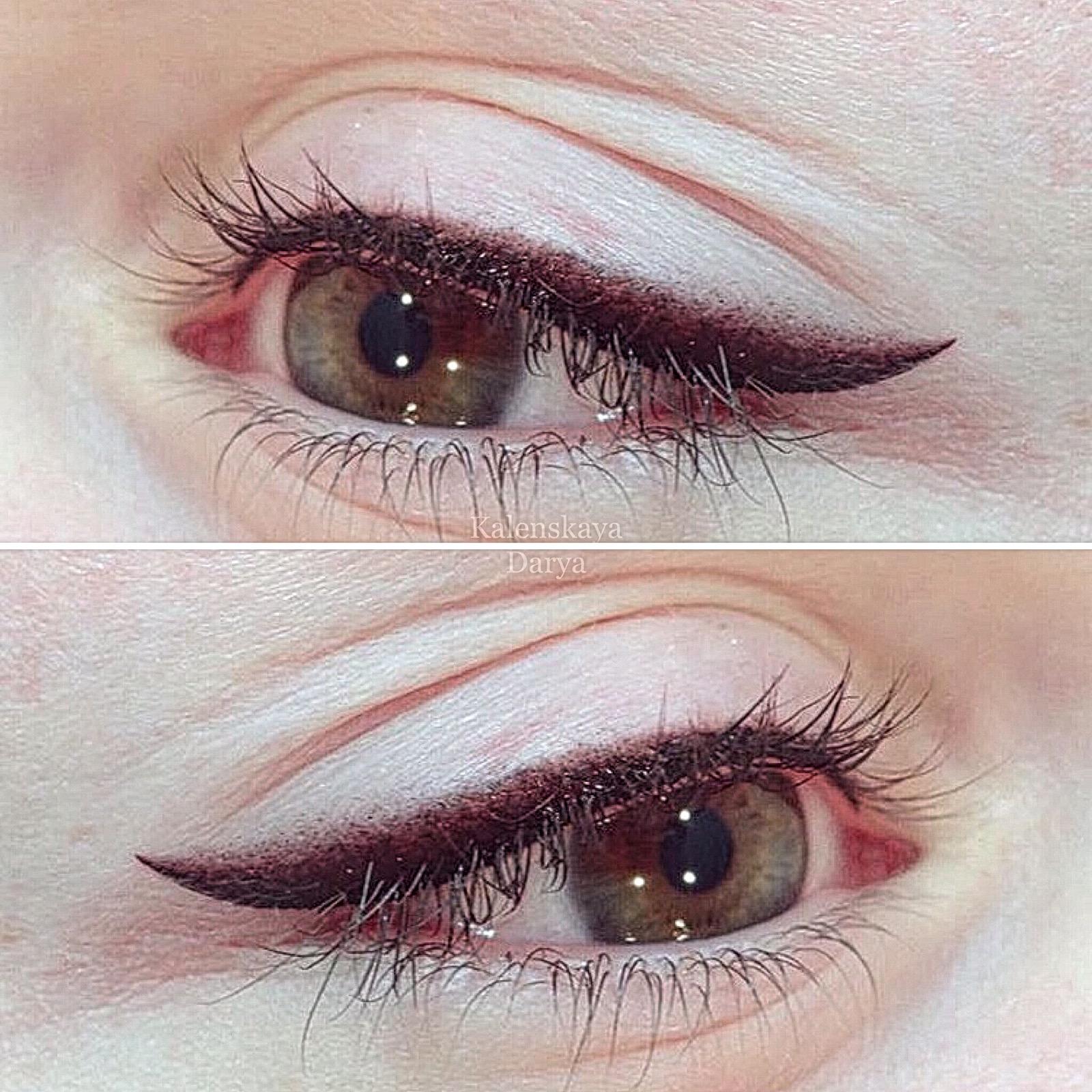 Татуаж глаз (перманентный макияж): стрелки или растушевка, фото до и после + вопросы и отзывы