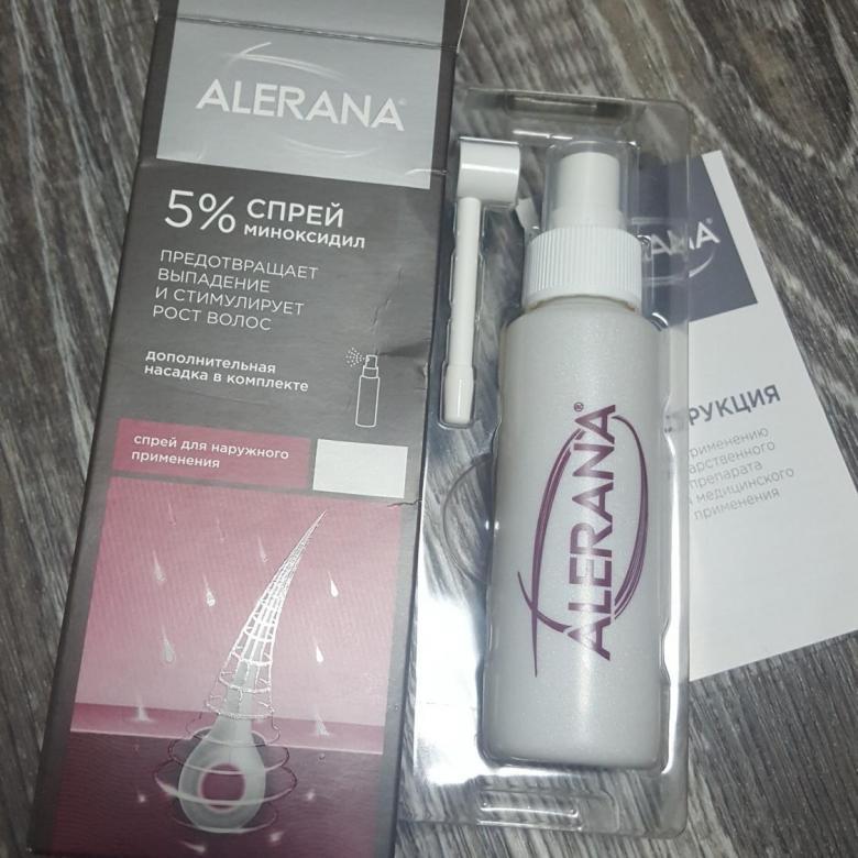 Спрей alerana 5% для наружного применения