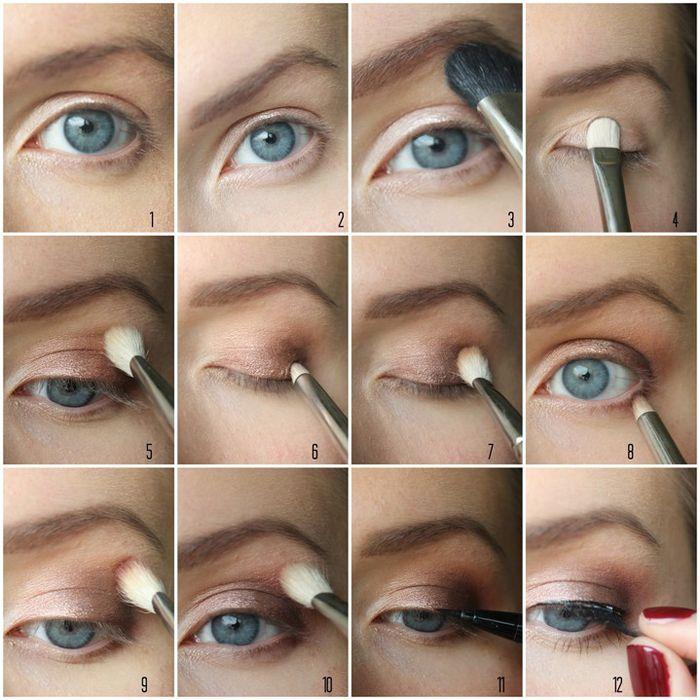 Макияж для глаз с нависающим веком. пошаговое описание