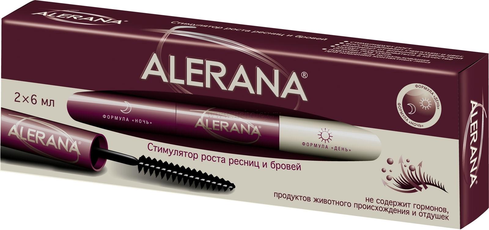 Сыворотка alerana: правила применения для роста ресниц и бровей