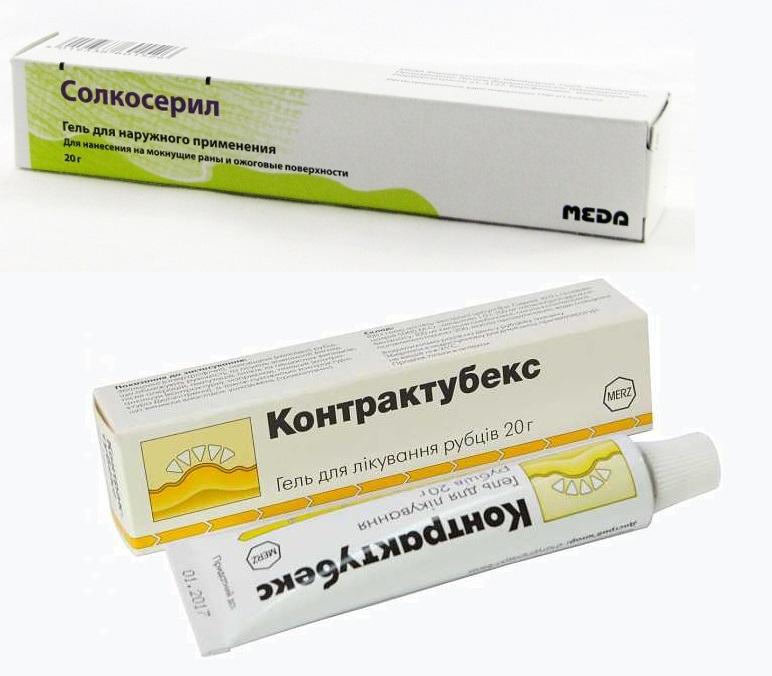 Контрактубекс и аналогичные препараты от шрамов и рубцов. цена, отзывы