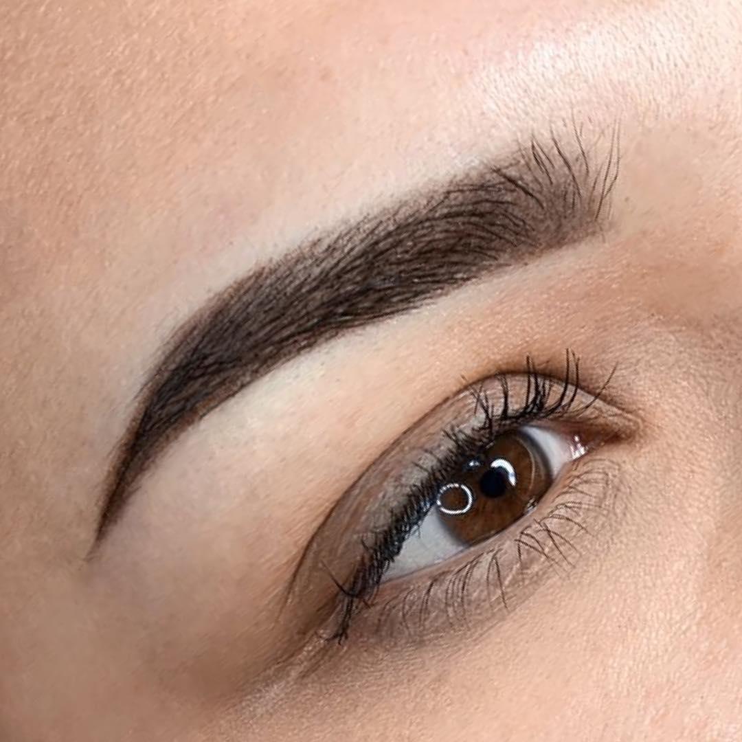 Перманентный макияж (татуаж) бровей (55+ фото)