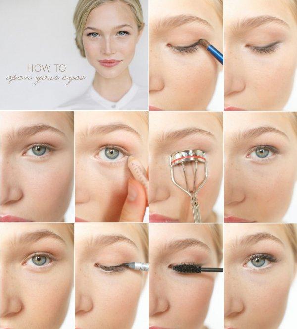 Учимся делать правильно макияж для нависшего века, разбираем ошибки