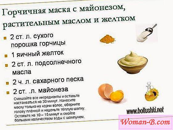 Рецепты масок для волос из горчичного порошка
