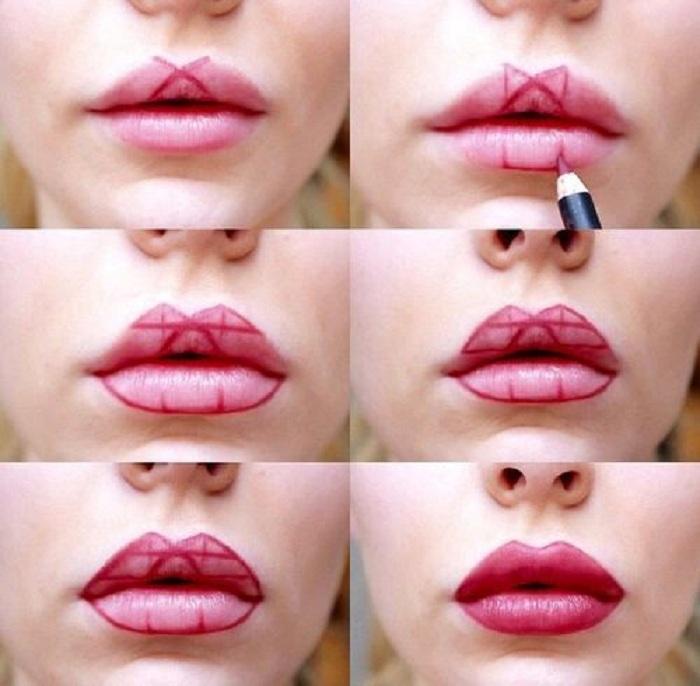 Как визуально увеличить губы с помощью макияжа в домашних условиях