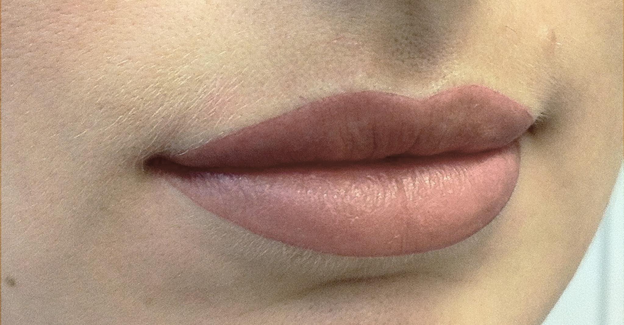 Перманентный татуаж губ с растушевкой фото до и после процедуры