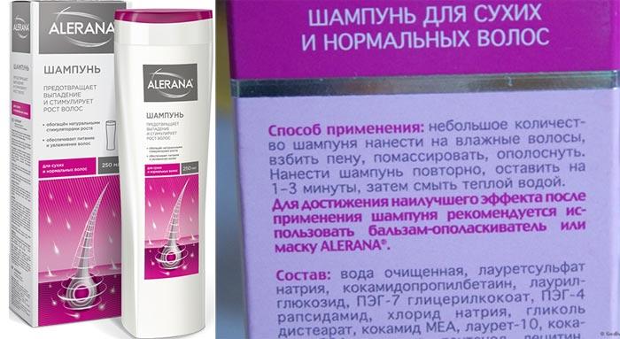 Шампунь алерана от выпадения волос для женщин и мужчин