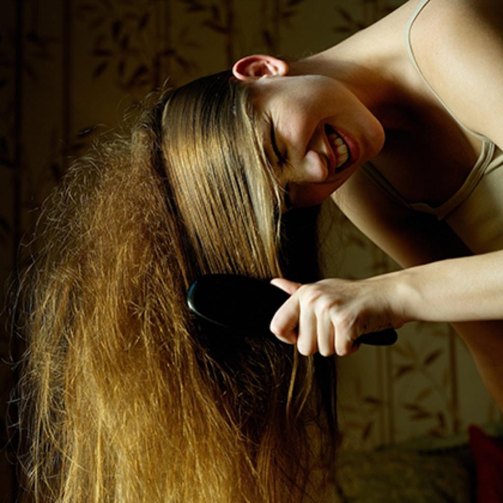 Выпадение части волос