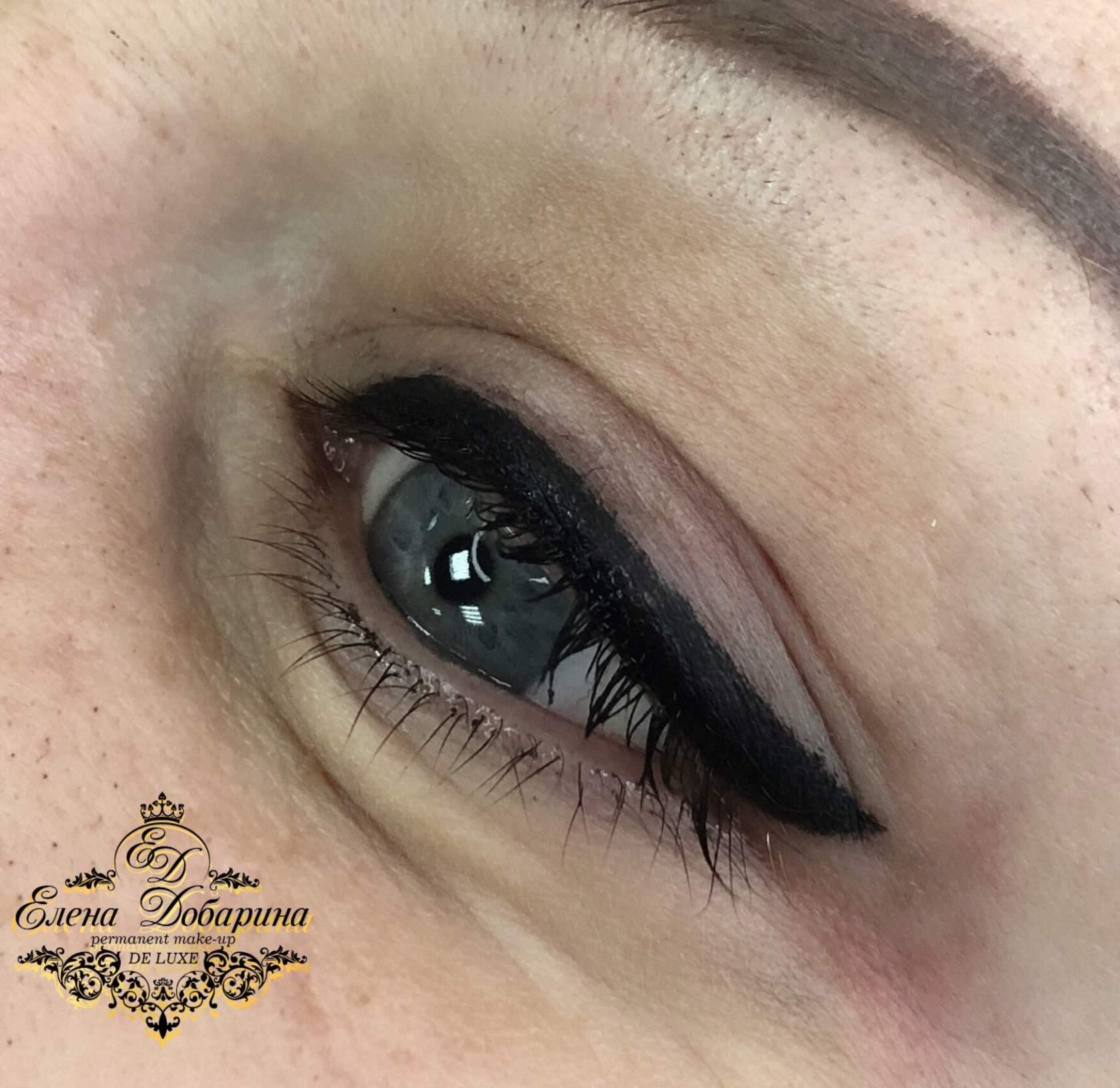 Татуаж глаз - что это: описание перманентного макияжа век с растушевкой