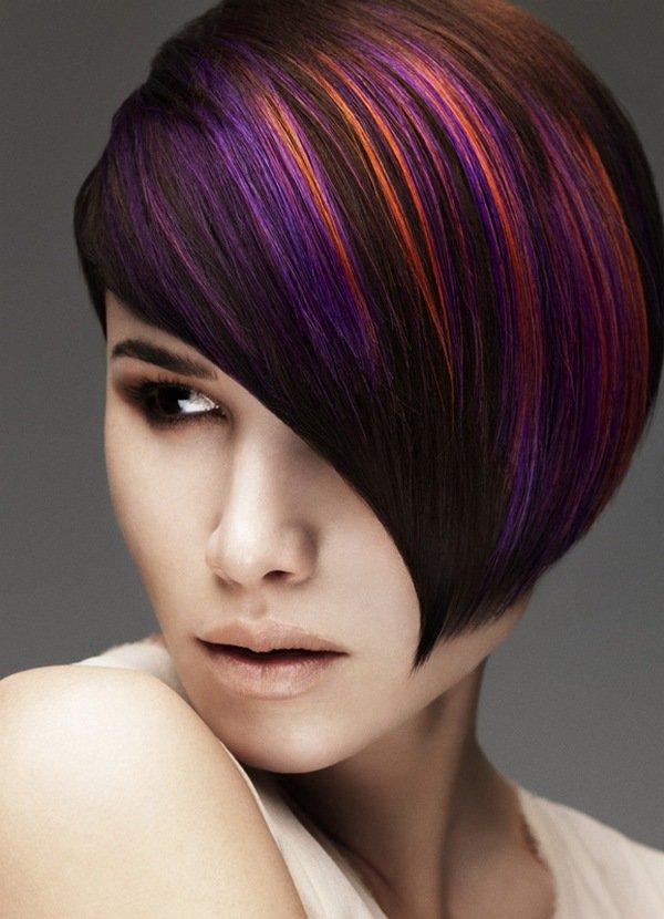 Колорирование на темные волосы средней длины — идеальное окрашивание (48 фото)